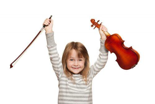 violin lesson is fun